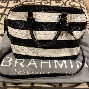 Brahmin Vivian Black Vineyard leather bag.
